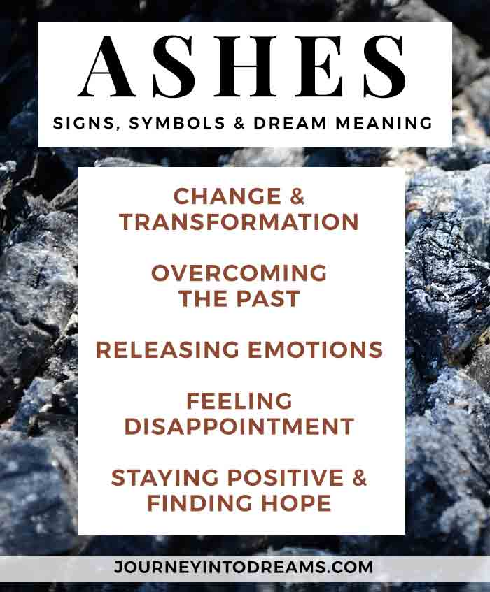 dream meaning for ashes