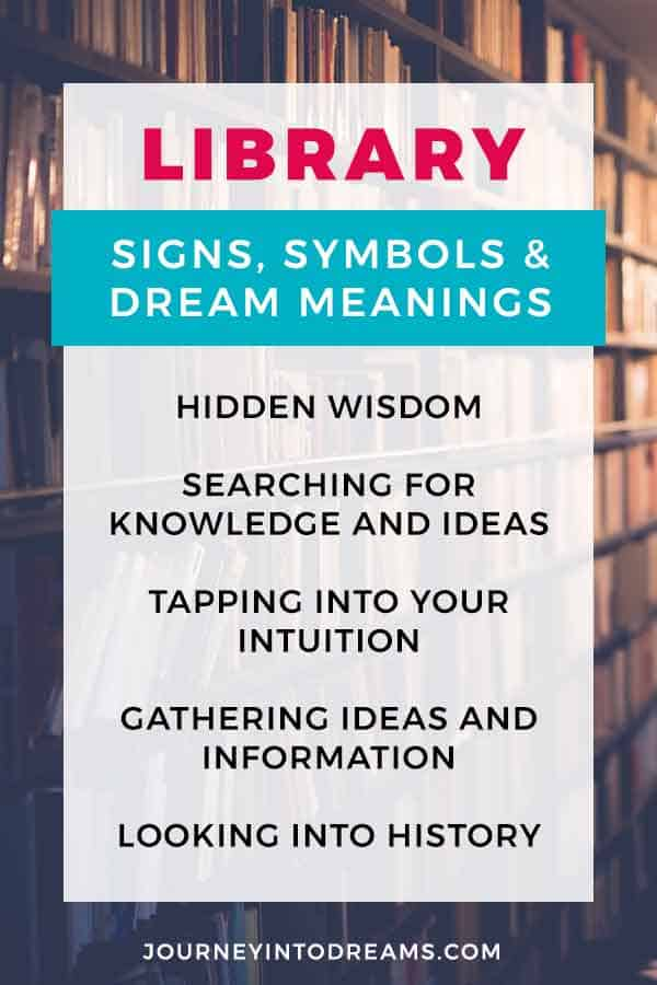 what it means to dream of a library symbol