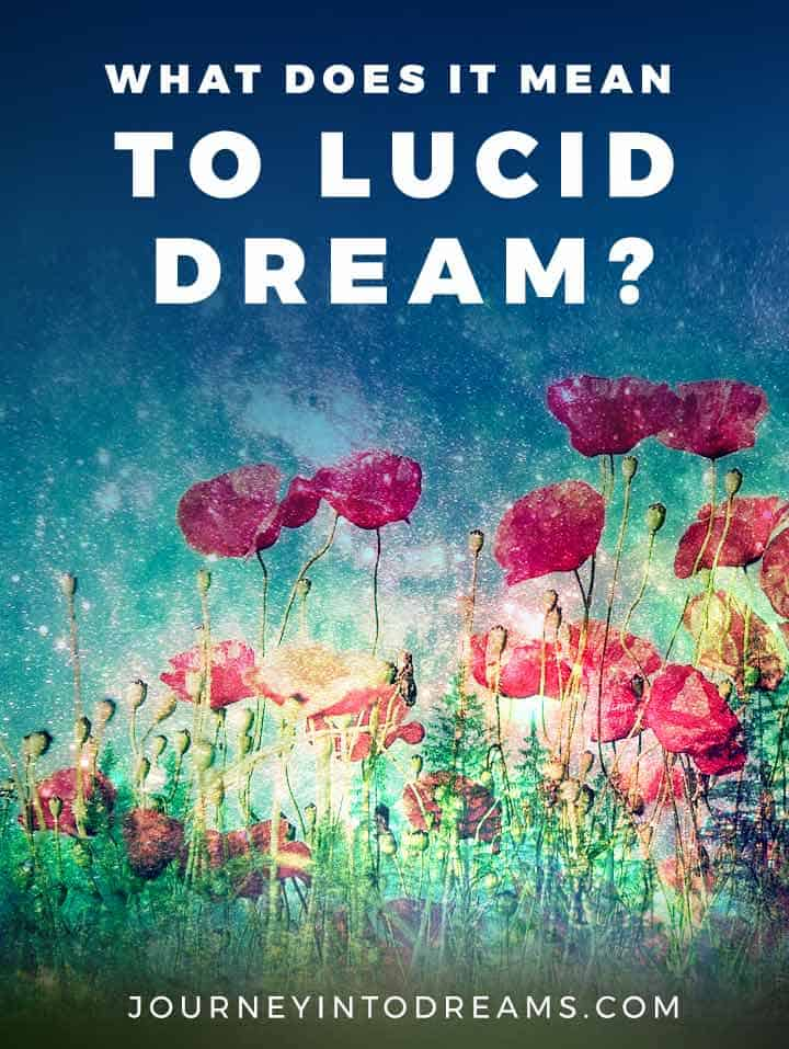 what does it mean to lucid dream