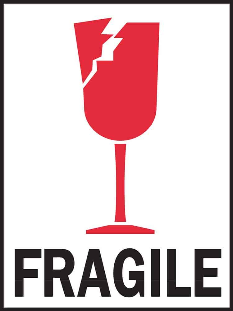 fragile handle with care symbol