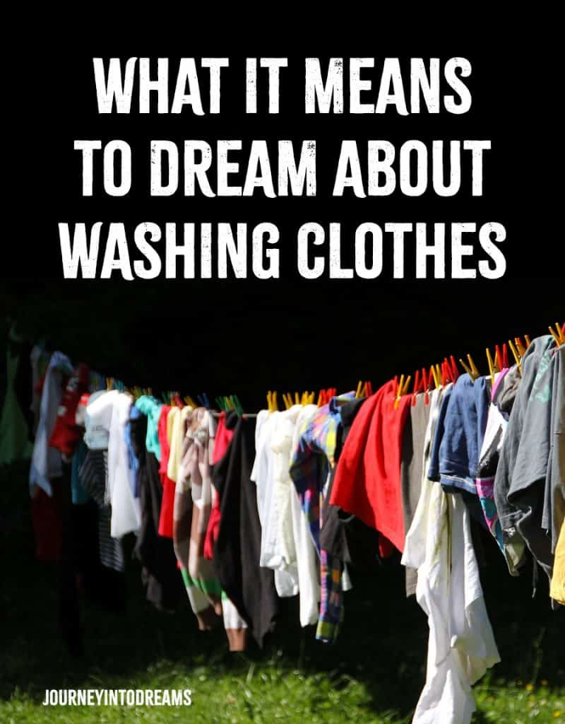 dream about washing clothes