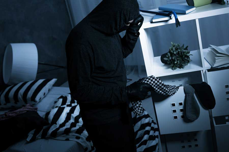 robber breaking into bedroom dream