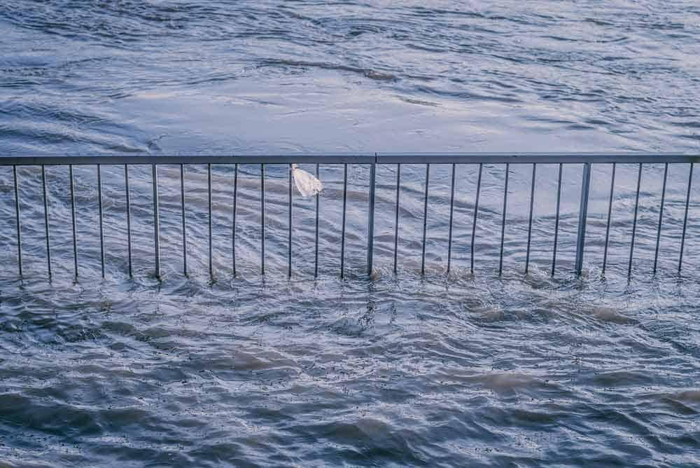 rising flood waters