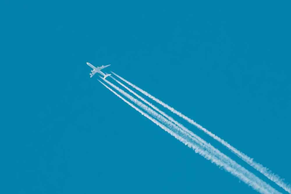 Plane with Trails