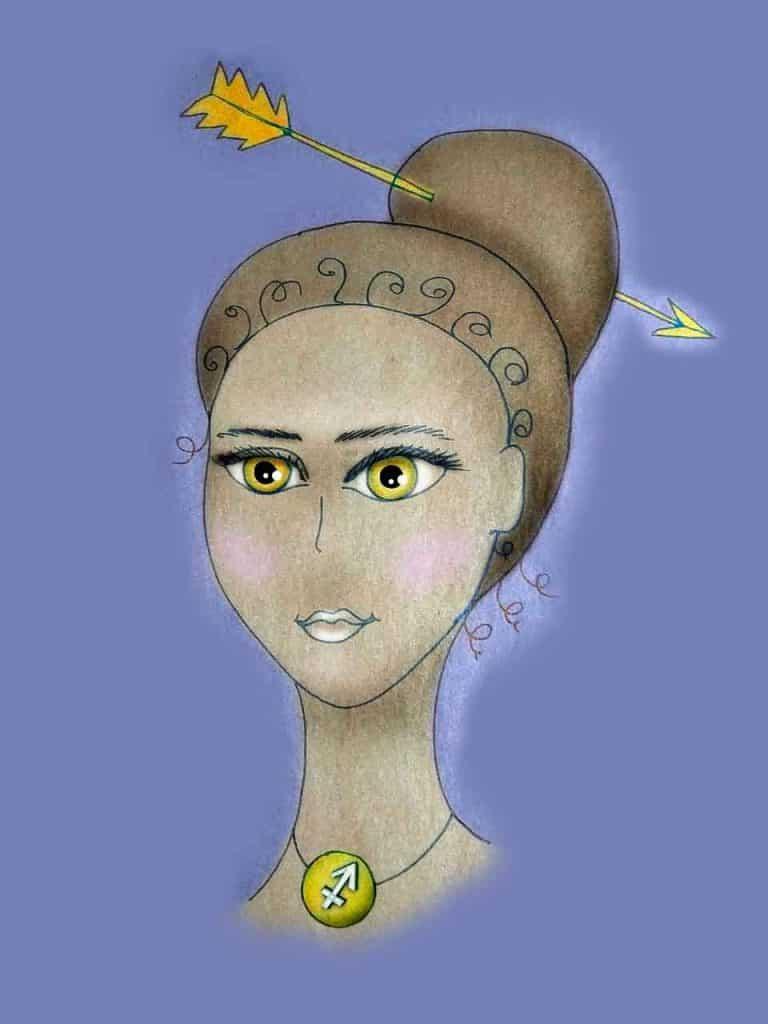portrait of sagittarius woman