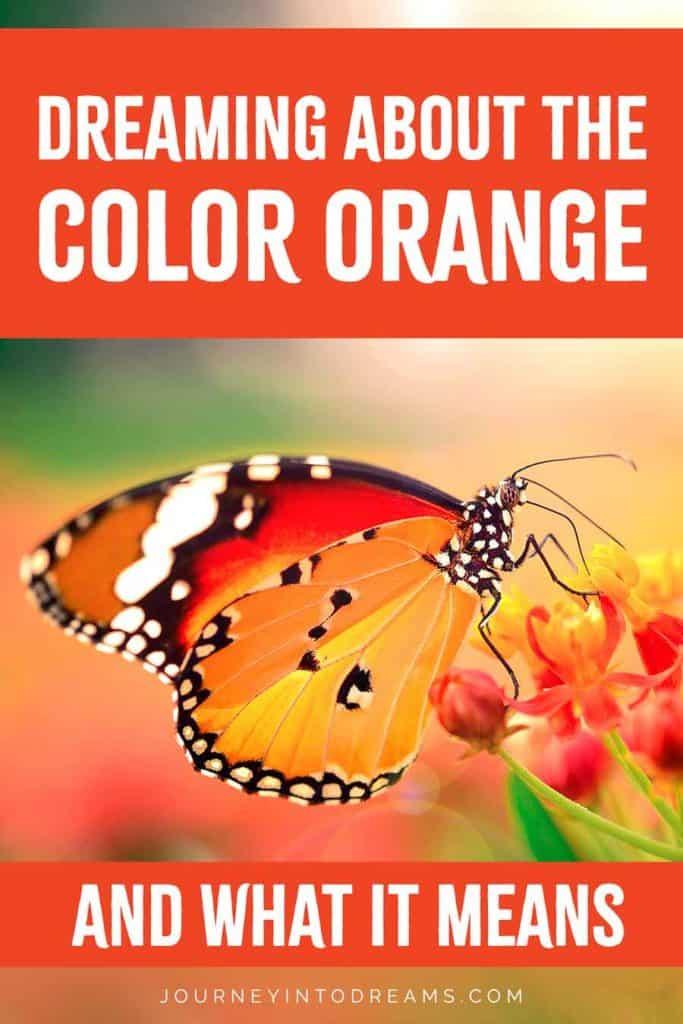 color orange dream meaning