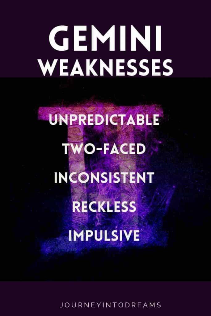 gemini weaknesses
