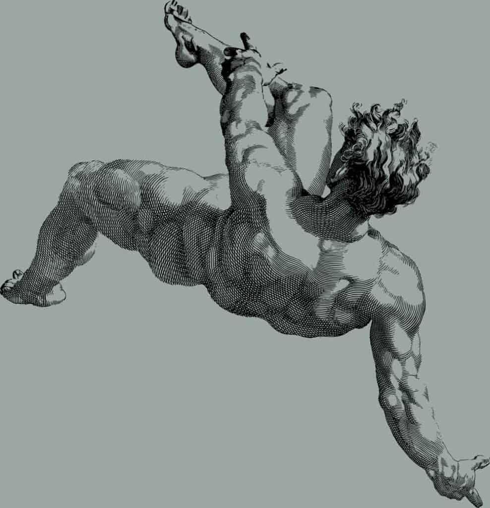 Man Falling Drawing