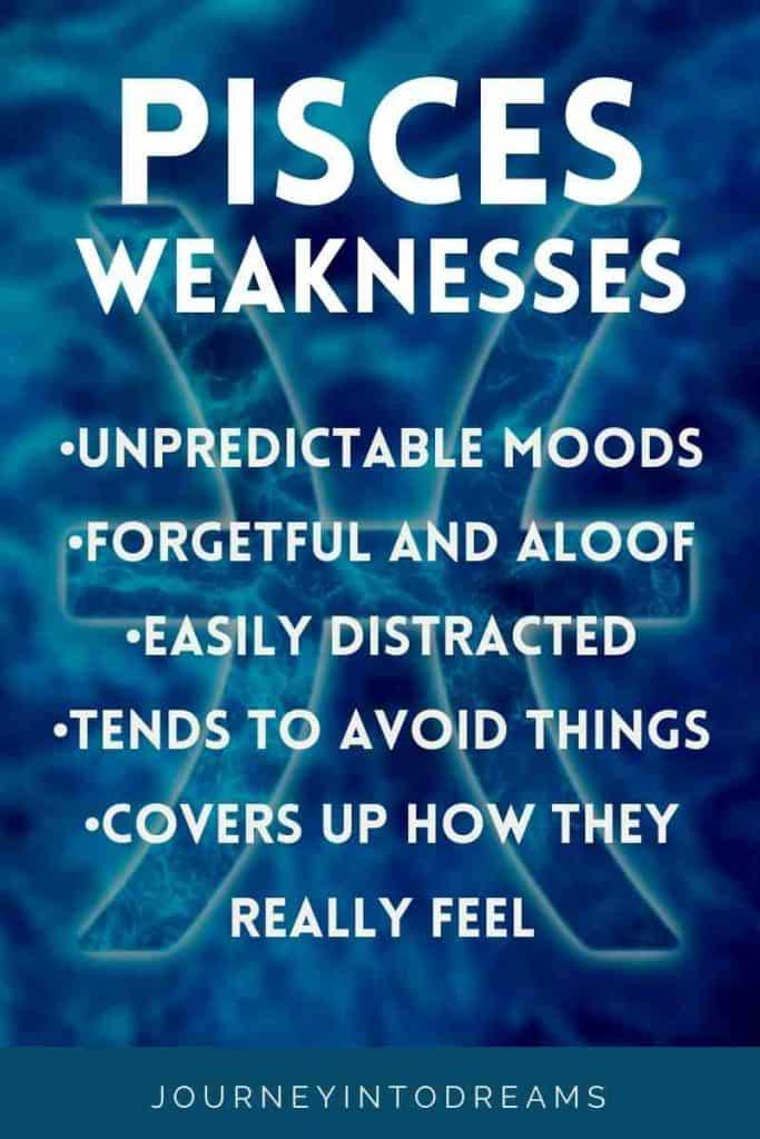 negative traits of pisces
