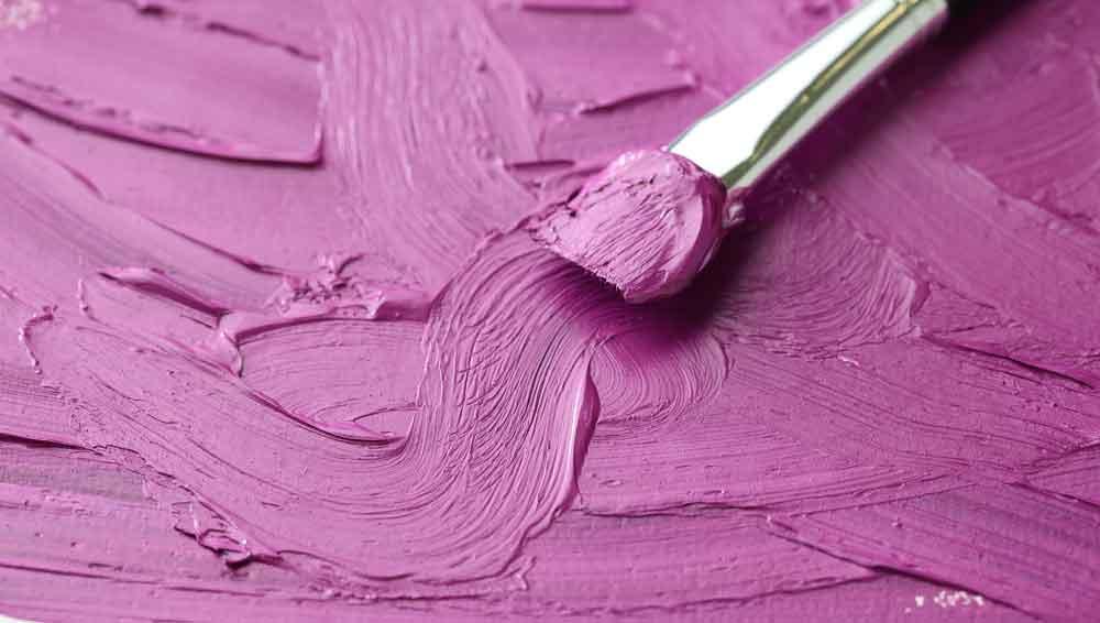 Purple Oil paint