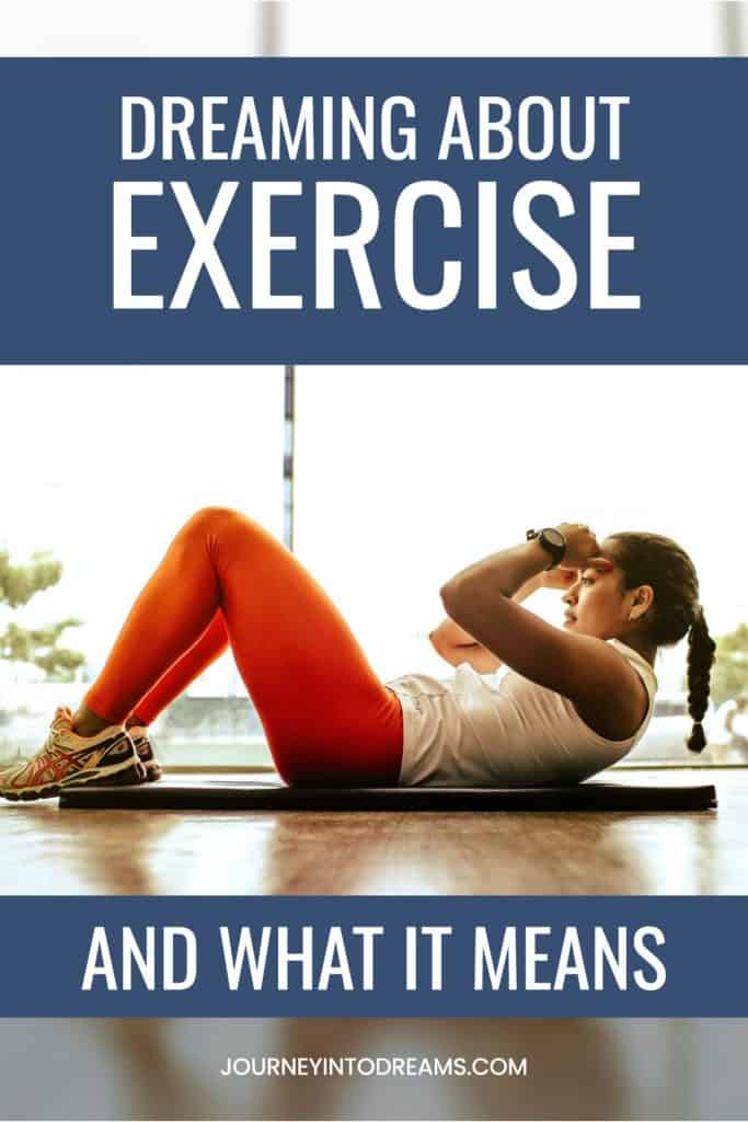 exercise dream meaning