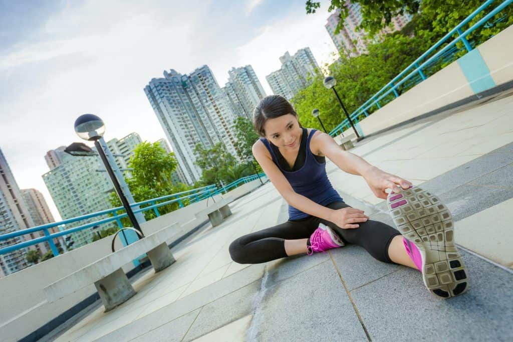 Exercise woman stretch