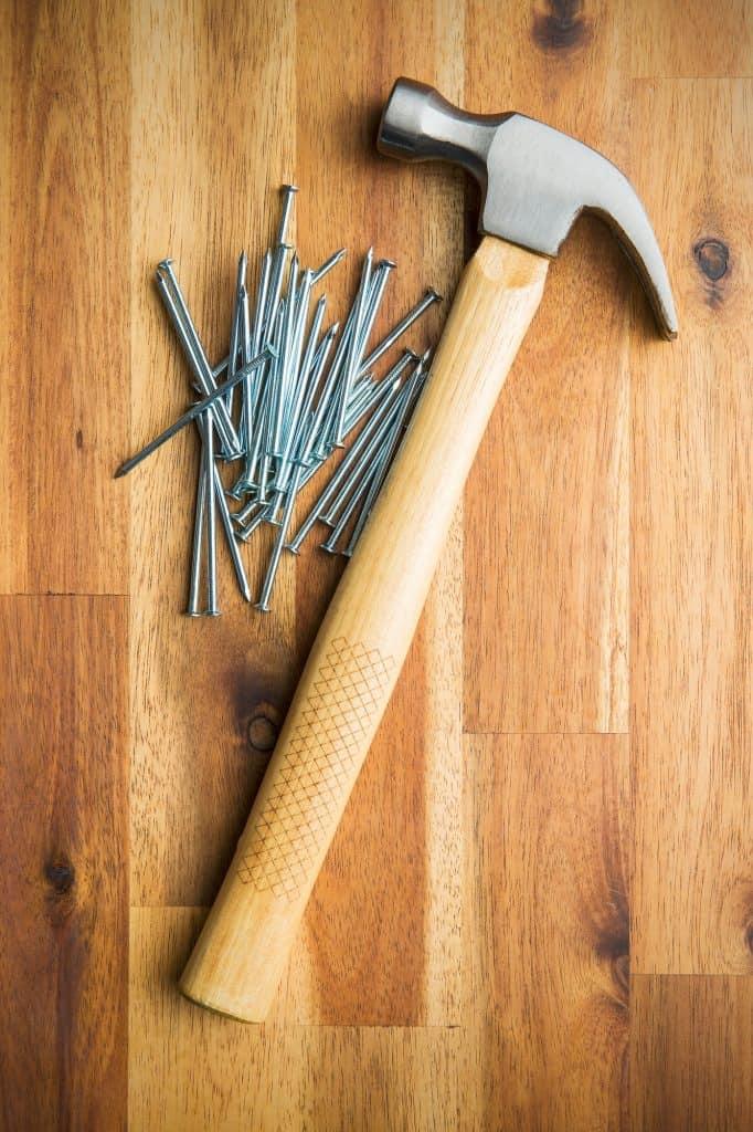 Hammer and nails.