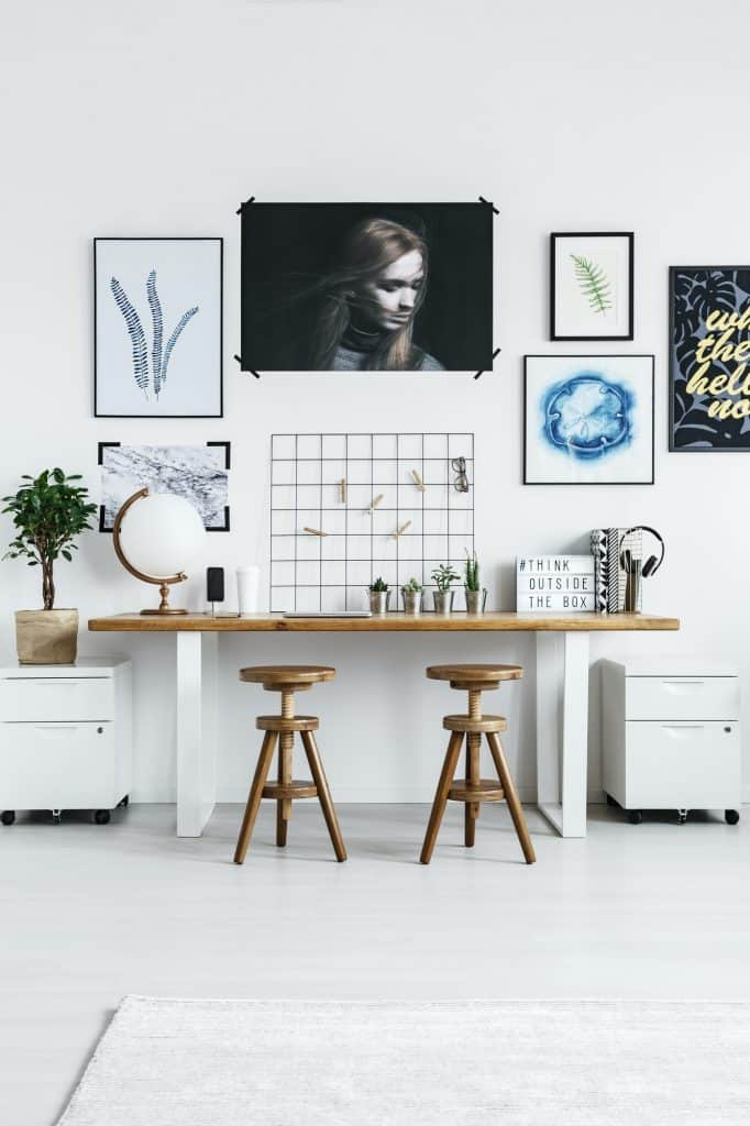 Home office with modern furniture
