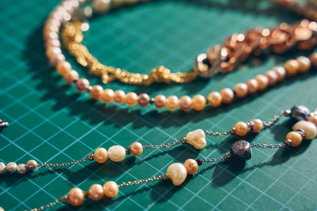Jewelry in the form of pearl beads