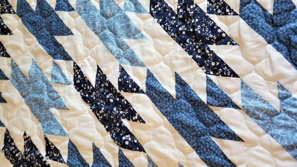 SHAPES! Blue and White Chevron Pattern!