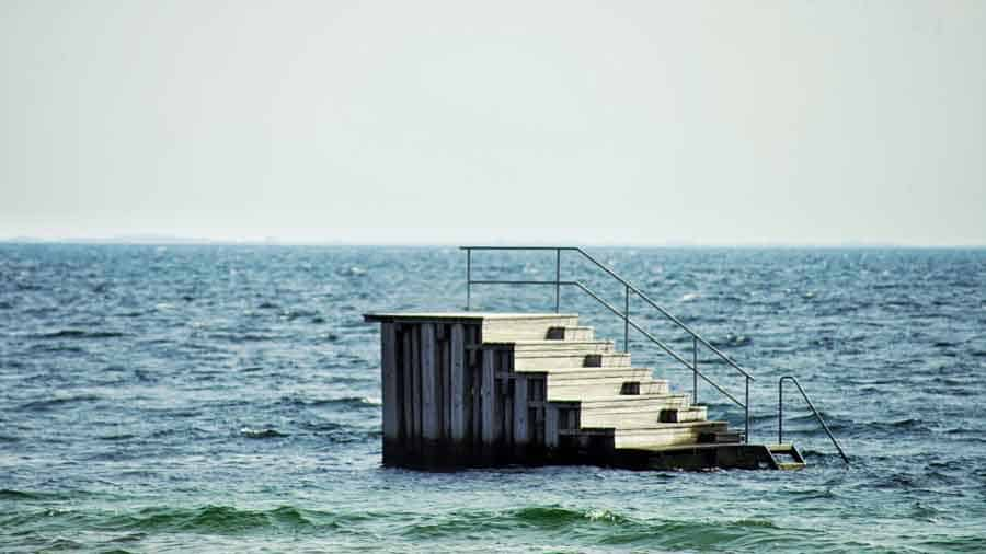 stairs in the ocean
