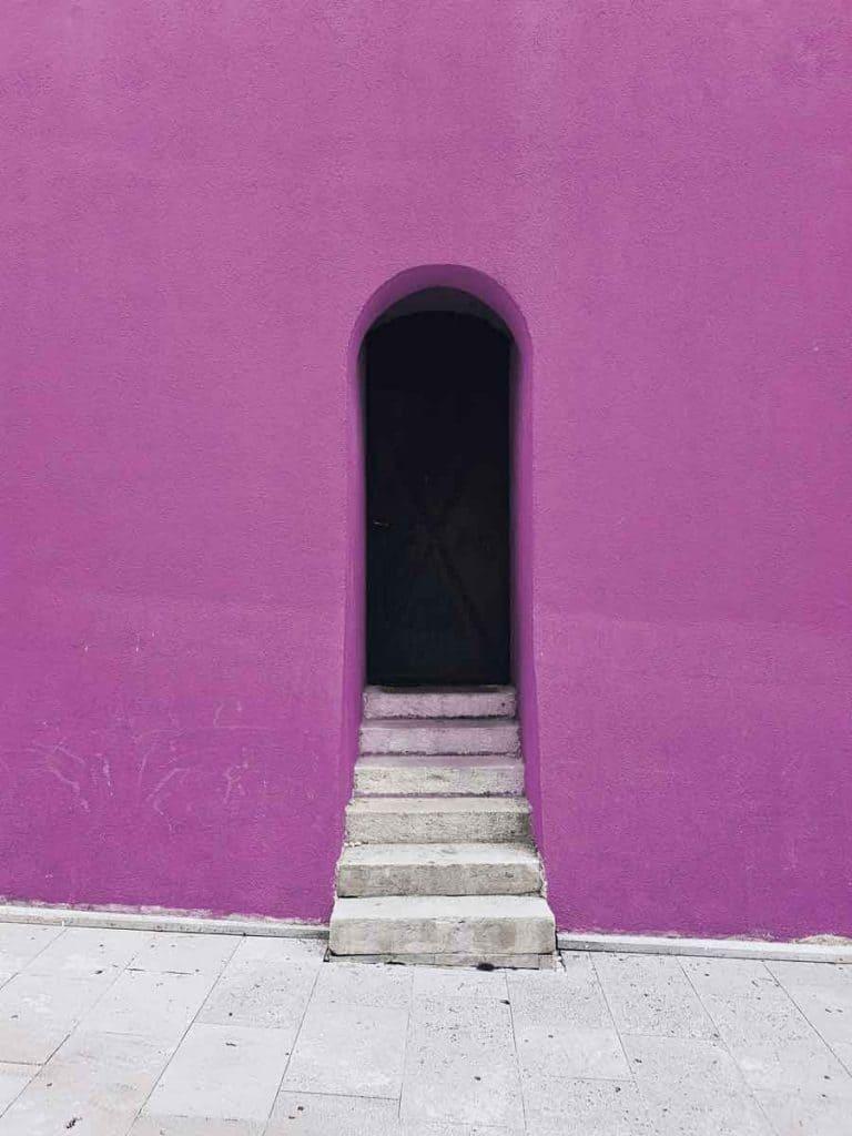 stairs into doorway