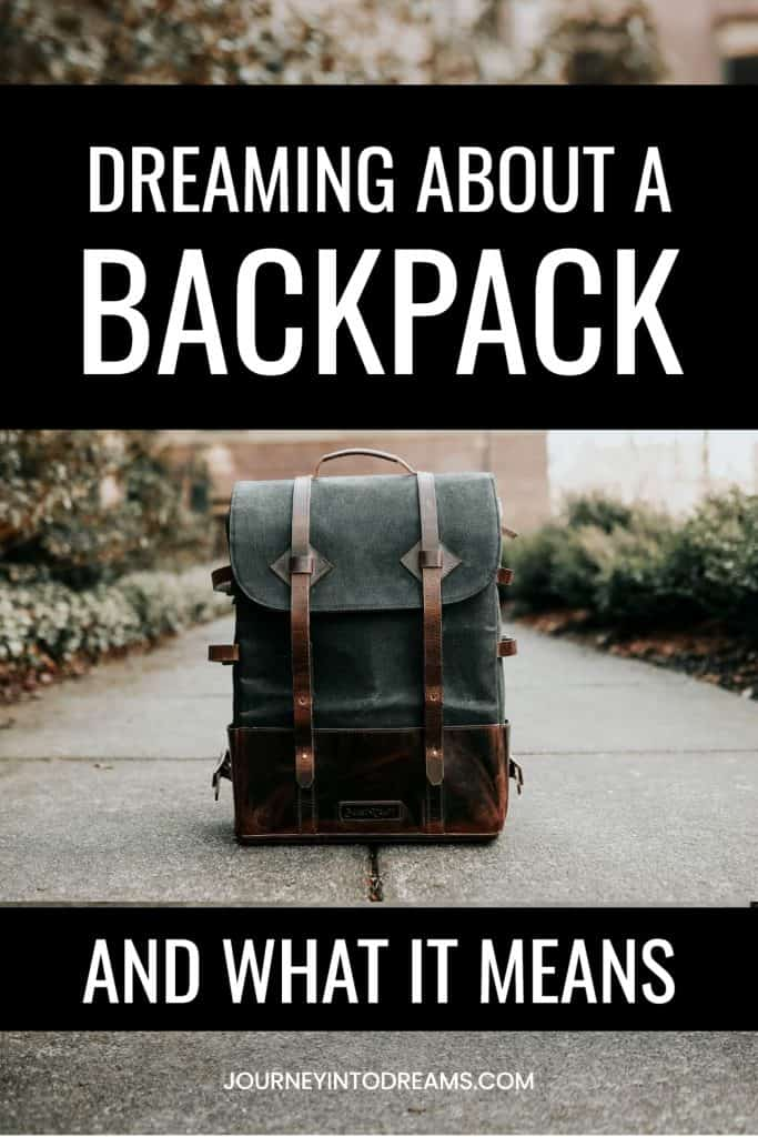 what it means to dream about a backpack